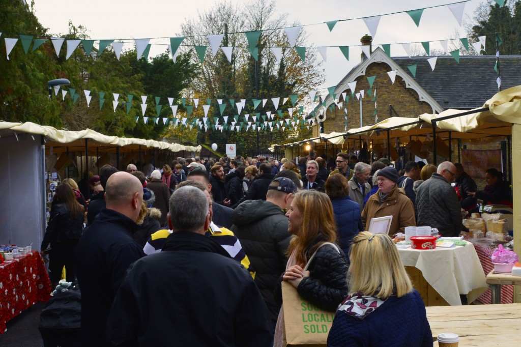 Opening Day at The Sidings N21 30 November 2014