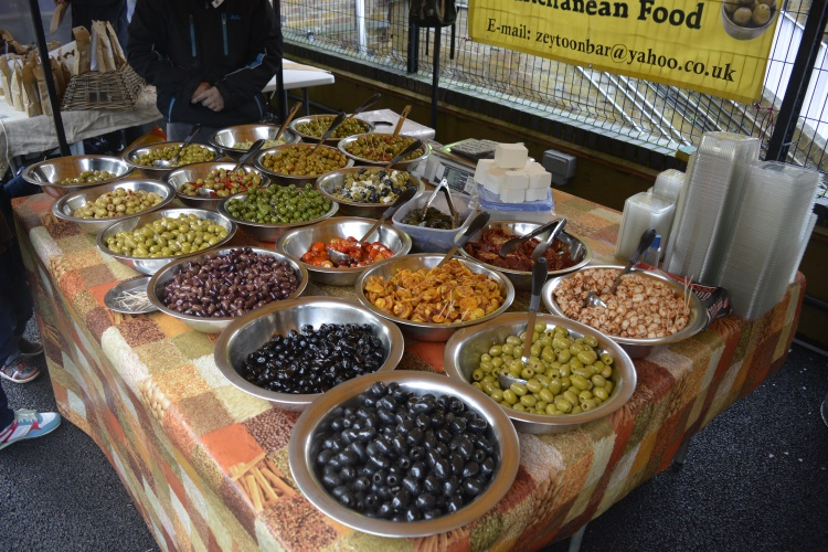 A spread of olives fit for a king at The Sidings N21