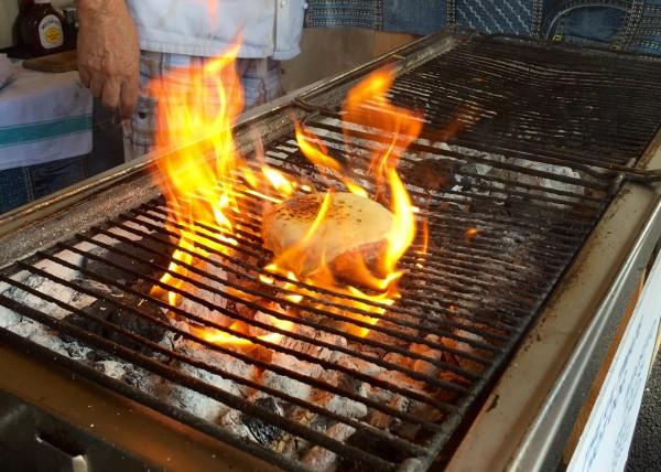 burger flamed