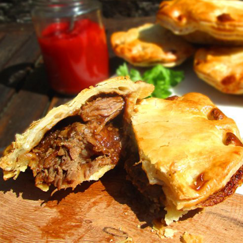 Beef and Ale Pie from Peachy Pies trader at The Sidings N21