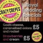 Crazy Crepes at The Sidings N21 Winchmore Hill Royal Wedding Fever