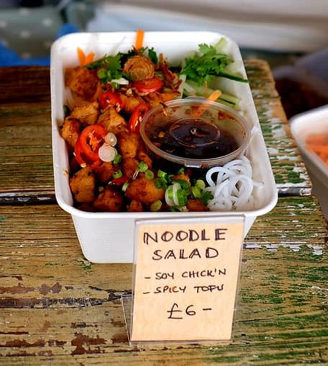 Viet Vegan Noodle Salad at The Sidings N21